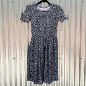 NWT Lularoe Marble Grey Amelia Day Dress Small